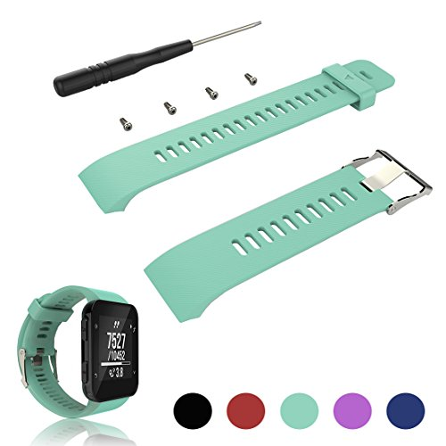 For Garmin Forerunner 35 Replacement Band Strap - iFeeker Accessories Adjustable Soft Silicone Replacement Wrist Watch Strap Band Bracelet for Garmin Forerunner 35 GPS Running Watch