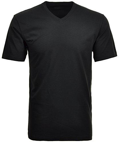 RAGMAN Shirt schwarz im Doppelpack V-Neck, - Shirt V-schnitt Schwarz