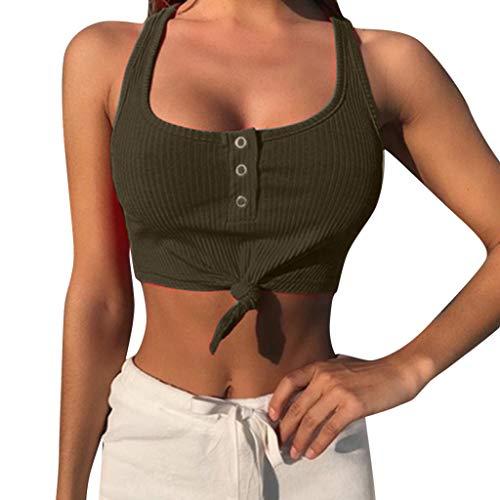 Frauen T-Shirt Ärmellose Bluse Camisole Tank Tops V-Ausschnitt Shirt Outdoor Sport Fitness Running Training Sommer Casual Weste Mode 2019 ()
