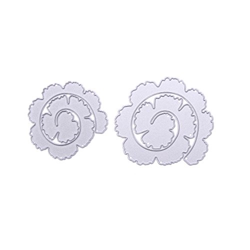 icyang Metall Blume Formen Punch Schablonen Scrapbooking Fotoalbum Prägung DIY Craft Papier Weihnachten Hochzeit Halloween Karte Geschenk Silver-A -