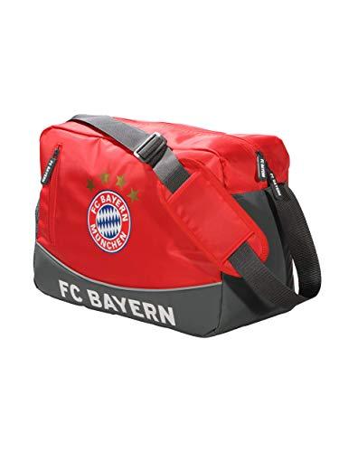 FC Bayern München Schultertasche, Umhängetasche rot mit FCB Logo