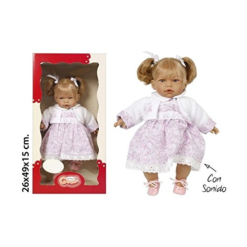 Preisvergleich Produktbild Muñecas Guca Puppen Guca – Anzug für Puppe,  Strampler weiß und blau Jacke mit Kapuze (150)