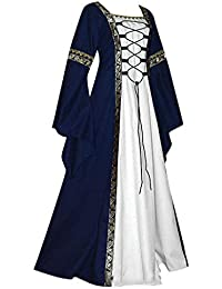 d7ed64dfa9b iHAZA Cosplay Maxi Dress Women Medieval Renaissance Fit Irregular Party  Dress