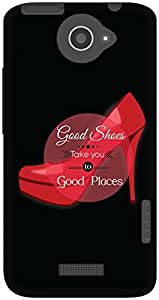 The Racoon Grip Good shoes hard plastic printed back case / cover for HTC One X