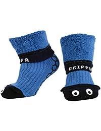 """""""GRIPPA"""" calcetines antideslizantes para niños con diseñoojos azules hechos en Gran Bretaña y aprobado por los principales expertos en la salud del pie del Reino Unido"""