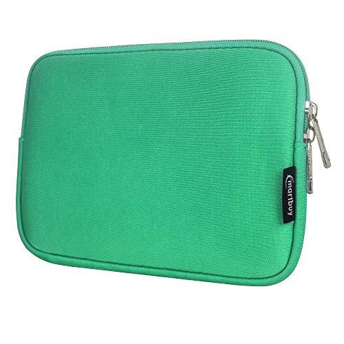 Emartbuy Laptop Neoprene Sleeve case with Zip for Datawind UbiSlate 9Ci (Green Plain - 8 Inch)
