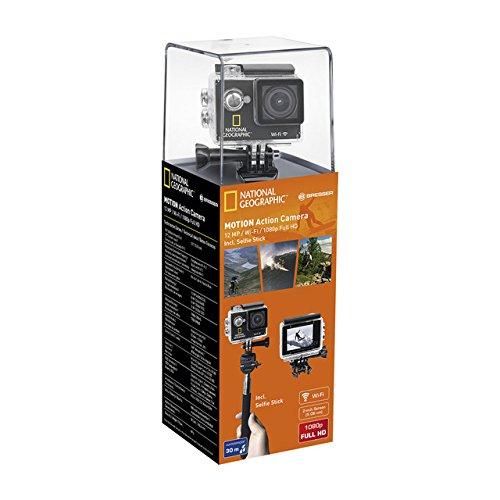 National Geographic Deutschland 9683001 Motion Action Camera Videocamera WIFI-Scheda Di Memoria