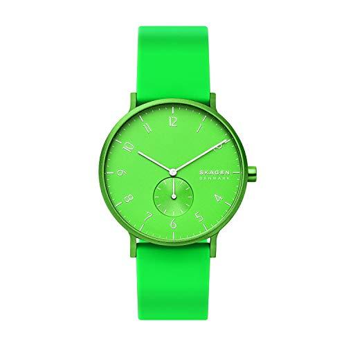 Skagen Unisex Adult Analogue Quartz Watch with Silicone Strap SKW6556