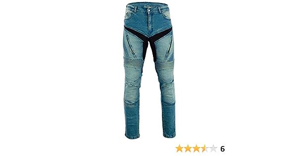 Bangla Herren Motorradhose Motorrad Hose Jeans Denim Mit Protektoren Blau Inch 38 Auto