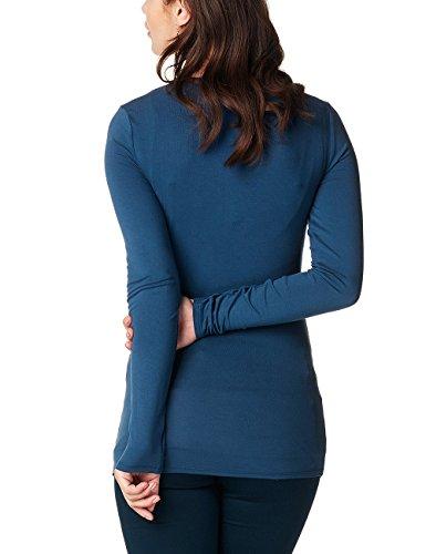 Noppies Top Nurs Ls Ellen, T-Shirt de Maternité Femme Blau (Dark Petrol C161)