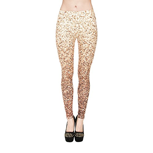 Hanessa Frauen Leggins Bedruckte Leggings Hose Frühling Sommer Kleidung Popcorn als Bild L90
