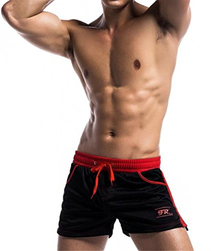 Men's Mesh Comfortable and Breathable Shorts Black