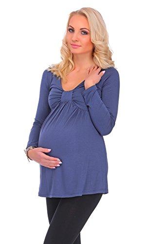 hi!mom - T-Shirt à manches longues - Tunique - Manches Longues - Femme Graphite