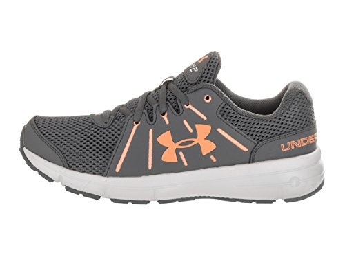 Under Armour UA W Dash RN 2, Scarpe Running Donna Rhino Gray/Glacier Gray/Playful Peach