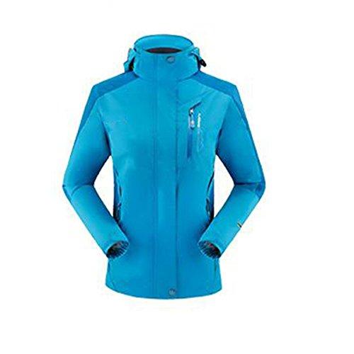 WU LAI Frauen Jacken Herbst Single Thin Four Seasons Jacke Breathable Mountaineering Wear Outdoors,Blue-S (Wear Wu Jacke)