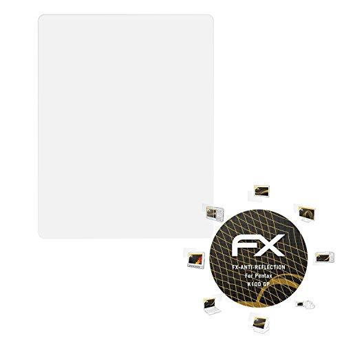 atFoliX Panzerfolie kompatibel mit Pentax K10D GP Schutzfolie, entspiegelnde und stoßdämpfende FX Folie (3X) (K10d Pentax Digitalkamera)