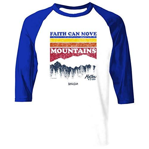 Kerusso Herren Christian T-Shirt Mountain Stripes - Weiß - X-Groß -