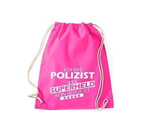 Shirtstown Borse palestra Sono Poliziotto, perché Super eroe niente Occupazione è - Viola, 37 cm x 46 cm rosa