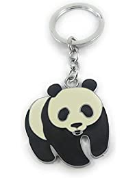 Key Era Walking Kung Fu Panda Black & White Colour Metal Keychain & Keyring For Bikes, Cars, Bags, Home, Cycle...