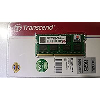 Trascend 8Gb 1600Mhz Laptop Ram Pc3L Low Voltage 1.35V Laptop Memory