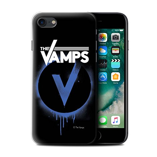 Offiziell The Vamps Hülle / Case für Apple iPhone 7 / Schlagzeug Muster / The Vamps Graffiti Band Logo Kollektion Blau V