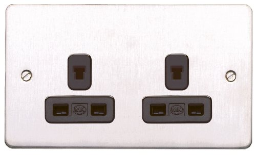 MK Edge K14239BSSB - Enchufe no conmutado con interruptores no estándar (3...