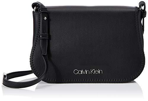 Calvin Klein Mellow Saddle Bag - Borse a tracolla Donna, Nero (Black), 1x1x1 cm (W x H L)