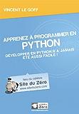Apprenez à programmer en Python (Livre du Zéro)