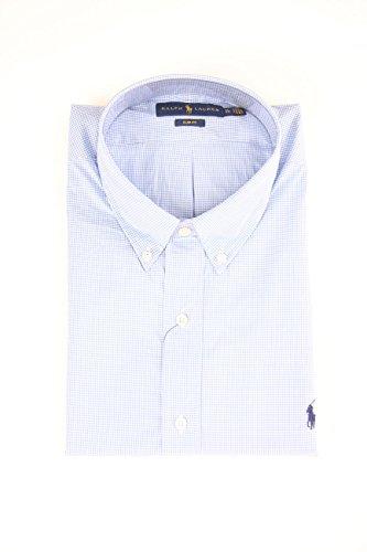 Polo Ralph Lauren Herren A04WERSMC0109 Freizeithemd, Blau (Blue/wht Ging I4038), Large