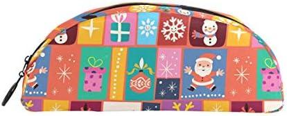 Trousse Holders mignon Dessin animé Merry Christmas Pattern Pen papeterie Pouch Sac avec fermeture à glissière Maquillage pour enfants filles garçons | Bonne Conception Qualité