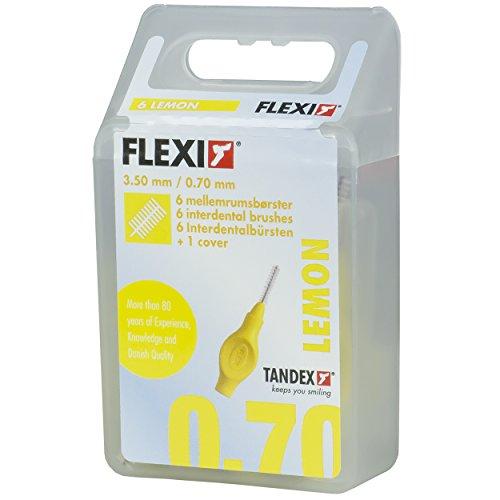 Tandex Flexi Interdentalbürsten 6 Stück Packung Gelb Fine