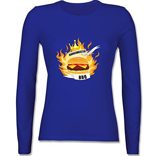 Grill - Burgermeister - tailliertes Longsleeve / langärmeliges T-Shirt für Damen Royalblau