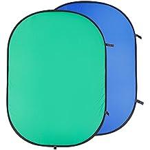 Neewer plegable de fotos Reversible dos lados Chromakey Verde fondo azul Panel 149,86 cm x 200,66 cm/150 cm X200 cm
