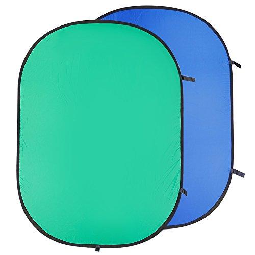 Neewer Sfondo Chromakey Pieghevole per Fotografia,150x200 cm, Verde/Blu