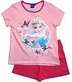 Frozen - Die Eiskönigin Mädchen Schlafanzug ELSA Pyjama (Fuchsia-Rosa, 104-110)