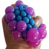 Party Propz® Grape Ball Stress Relief Squeeze Hand Wrist Toy Balls Anti Stress Healthy Venting Ball Autism Mood Squeeze Relief Gift (Set Of 5)