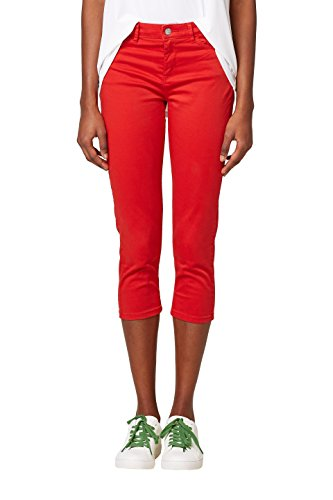 ESPRIT Damen Hose 038EE1B013, Rot (Red 630), 34