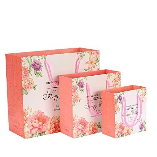 LIUQIAN Schal Seide Handtuch Einkaufstasche Hochzeit Home Bettwäsche Papiertüte Maske kosmetische Papier Handtasche Satz mit DREI Stück (große Mittel und klein) (Seide Schal Handtasche)