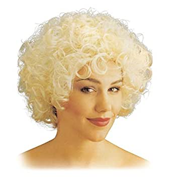 80's Madonna Style Short Curly Blonde Wig