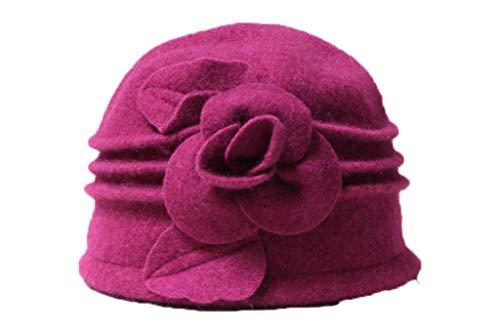GOUNURE Elegante Wollfilz Cloche Bucket Hat Mode Floppy weiche Fedora Hats Dome Cap Bowler Cap Sonnenhut für Frauen -