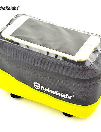 ZXC/ Fahrradrahmentasche Radsport Für Alles Handy ( Wasserdicht / Regendicht / Wasserdichter Verschluß / Touchscreen , Gelb / Orange ,Nylon / 17-yellow