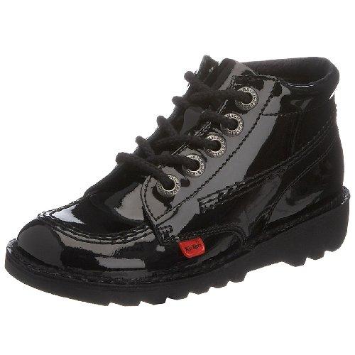 Kickers Kick Hi J, Bottines Fille Noir (black Patent)