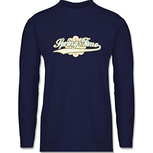 Shirtracer Urlaub - Spring Time - Herren Langarmshirt Navy Blau