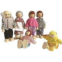 6 preciosas mini miembros de la familia Muñecas Juguetes Muñecas de toda la familia Play House Toys - Peluches y Puzzles precios baratos