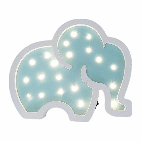 ölzern Lampen Nacht Lichter Stimmungsnächte Kinder Baby Weich Beleuchtung Kinderzimmer Dekorationen (Blau) ()