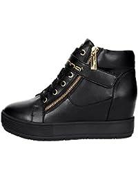 Fornarina Sneakers con Zeppa Interna Nero PIFMJ9606WVA0000 meti-Black Nappa  Nuova Collezione Autunno Inverno 2016 148c9881dc4