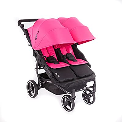 NUEVA Silla Gemelar Easy Twin 3.0.S con capota reversible de paseo Baby Monsters - Color Fucsia + REGALO de dos mantas para silleta