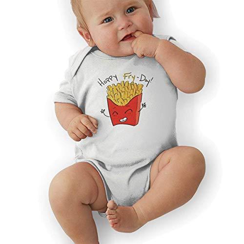 ae71f0bd1 HiExotic Indumenti per Neonati Baby Clothes Newborn Baby Boy's Bodysuit  Short-Sleeve Onesie Happy Fry