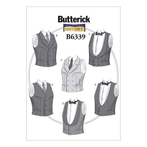 Butterick Muster 6339XN Herren Kostüme Schnittmuster, Größen X-Large-3X Große