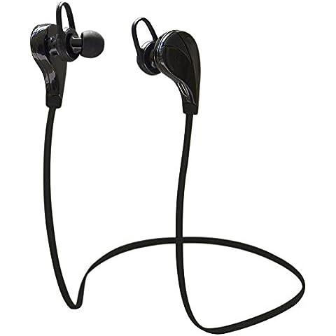 HanLuckyStars G6 Auriculares Inalámbricos Deportivos Bluetooth 4.0 Estéreo in-ear Cómodos con Manos Libres Micrófono Resistente al Sudor Reducción de ruido Headset sin Cable para iPhone 6/6s/6 plus/6s plus , Samsung Galaxy s6 s5, LG , Sony , HTC , Teléfono Android / Window Compatible con Dispositivos Bluetooth